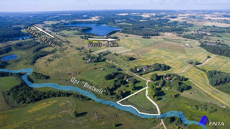 Elektrėnų sav. Vilūniškių k.   (50 arų, ūkininko sodyba, 115 m. upės pakrantės)