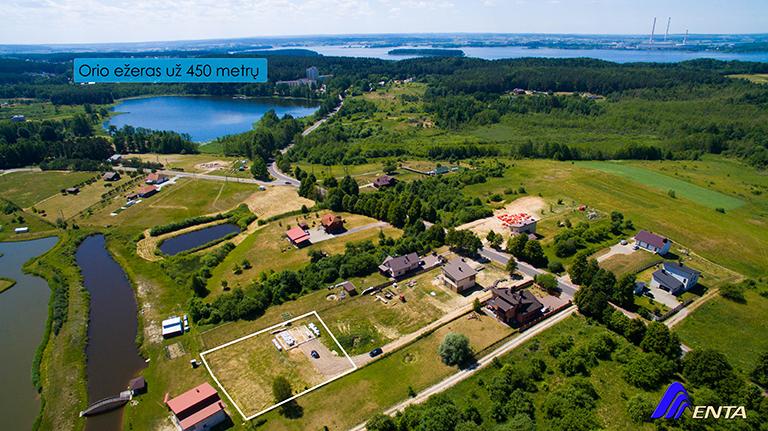 Abromiškių k., Sanatorijos g. 58B 15.6 a namų valdos sklypas su pamatais