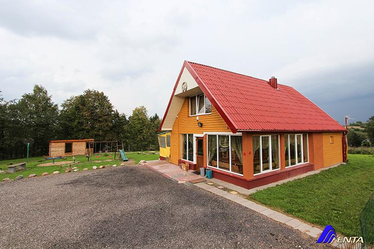 Elektrėnų sav., Alesninkų k (80 m2, ežero krantas, baseinas, kubilas, pirtis)