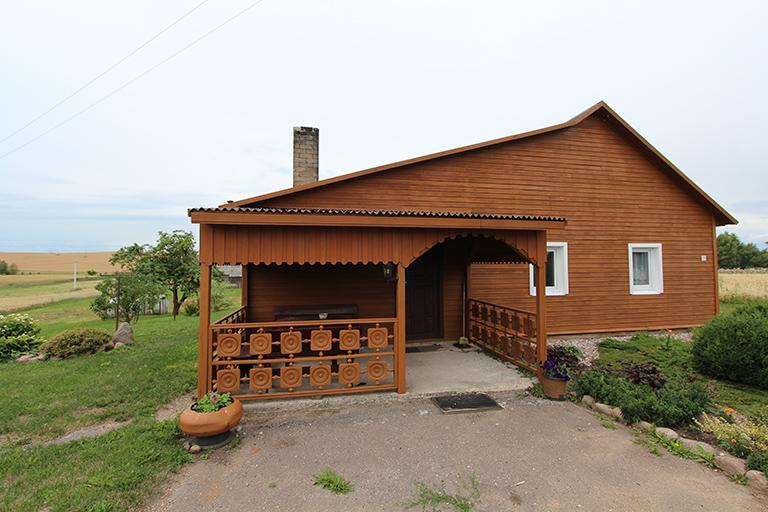 Elektrėnų sav., Mustenių k., Aušros g., rąstinis namas